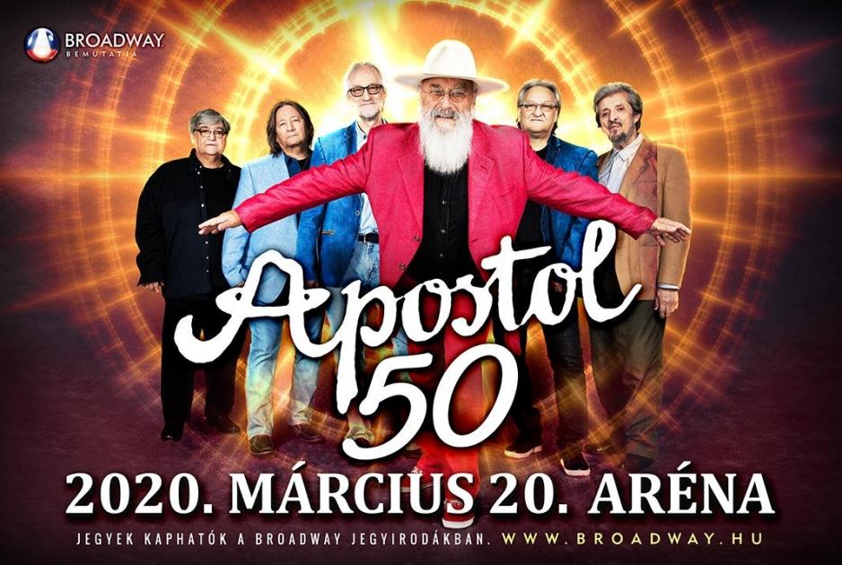 5262b8a2d0 Öt évtizedes fennállását nagykoncerttel ünnepli jövőre az Apostol együttes.  A zenekar, amely slágeres zenéjével nagy sikereket aratott, 2020. március  20-án ...